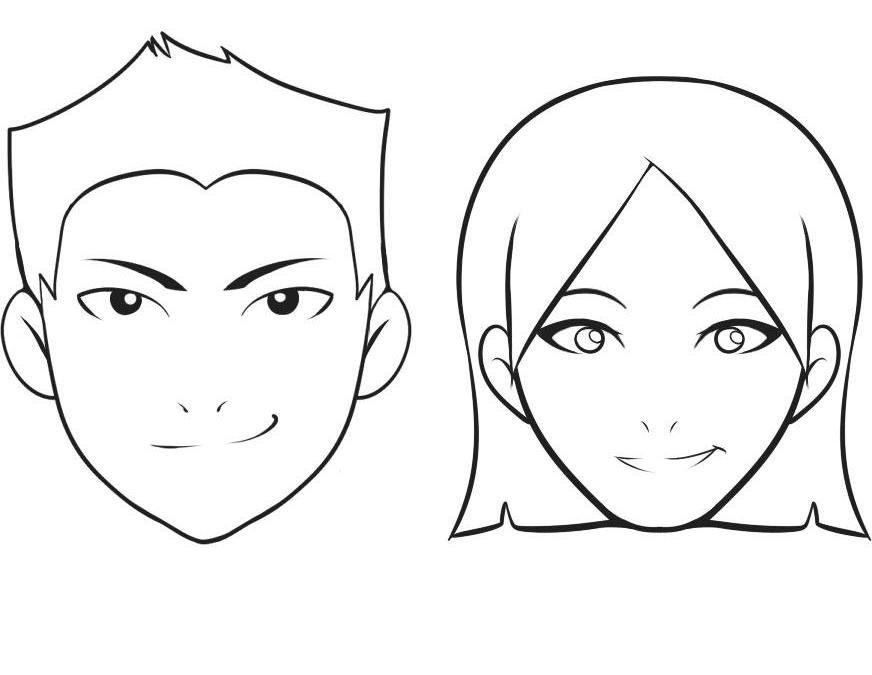 Рисунки лица людей поэтапно для начинающих