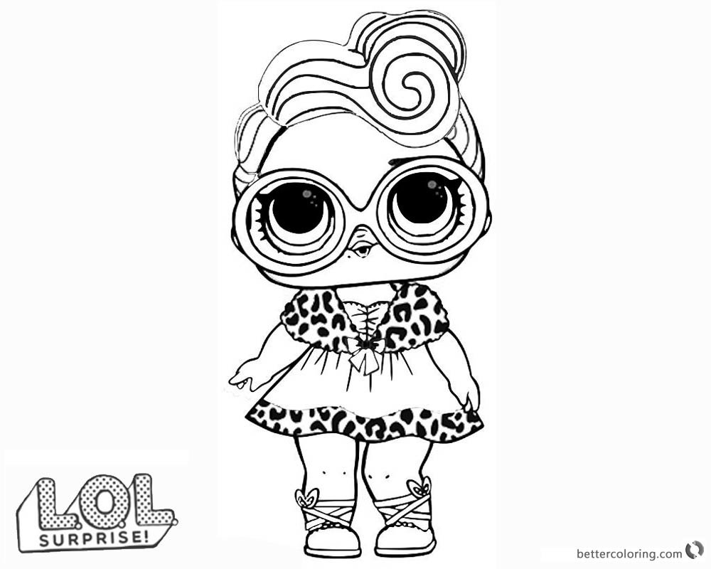 Lol surprise doll coloring pages dollface free printable c card