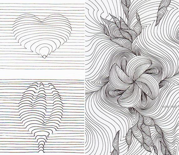 рисунки из линий карандашом толстые и тонкие стиле караваджо начал