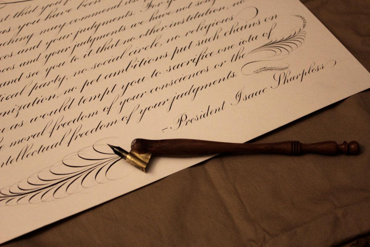 Чем написать от руки открытку