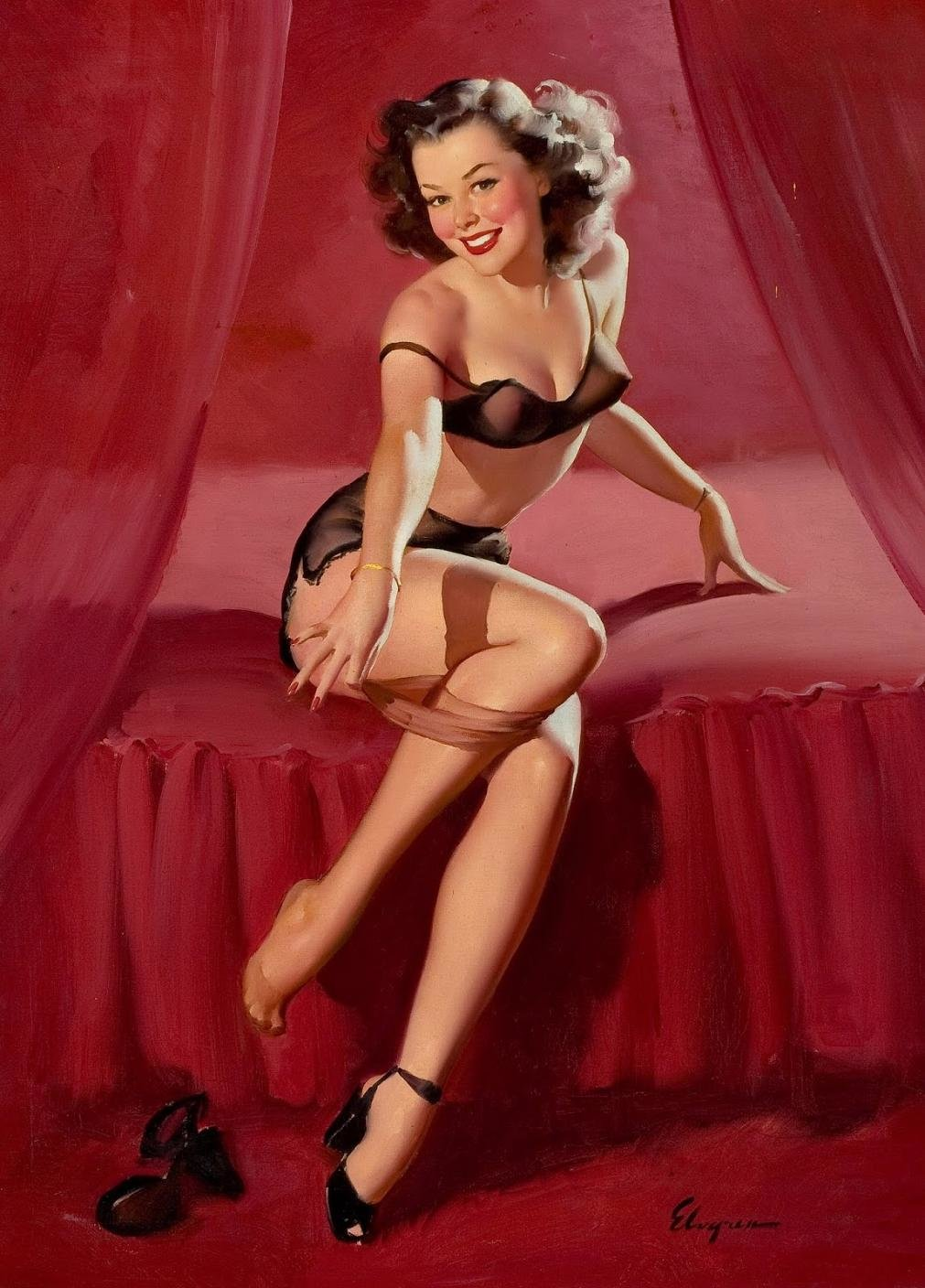 Vintage pin up girl pictures bond sex