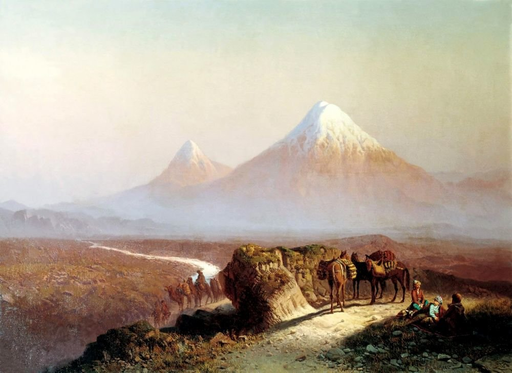 Поздравление с юбилеем на картинке с горой арарат