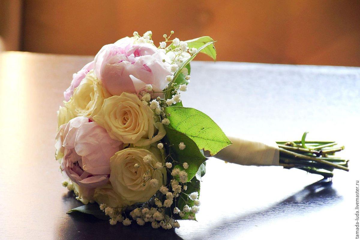 Букет своими руками из живых цветов, свадебные