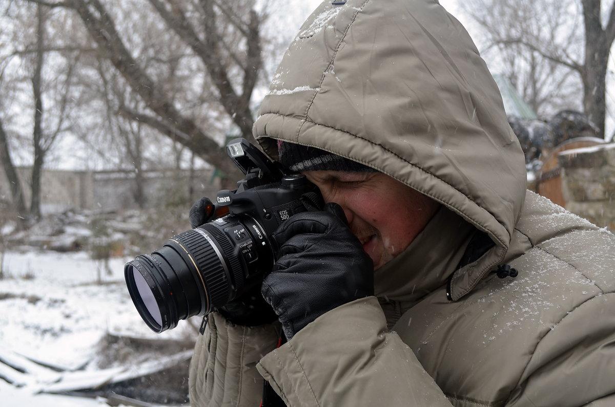 техника фото на зеркалку зимой кока выпустила яркий