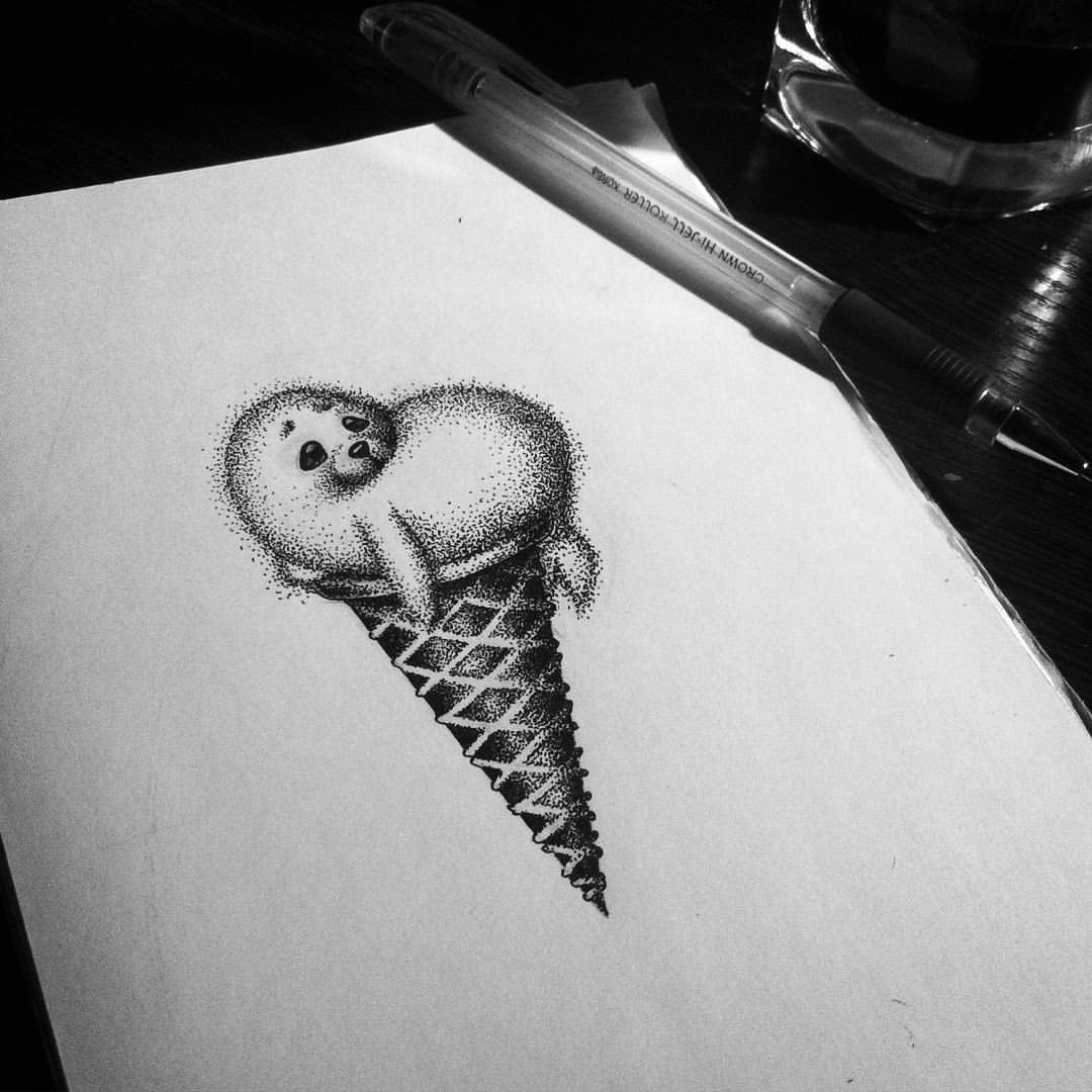 Делать красивые, прикольный рисунок гелевой ручкой