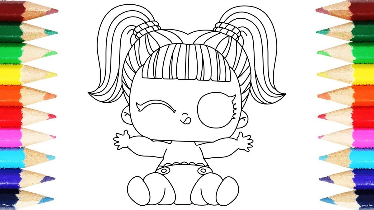 Lol surprise lil sister coloring pages how to draw lil doll