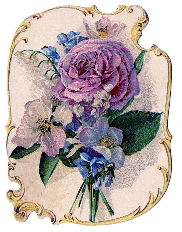 Картинках, цветы в старых открытках