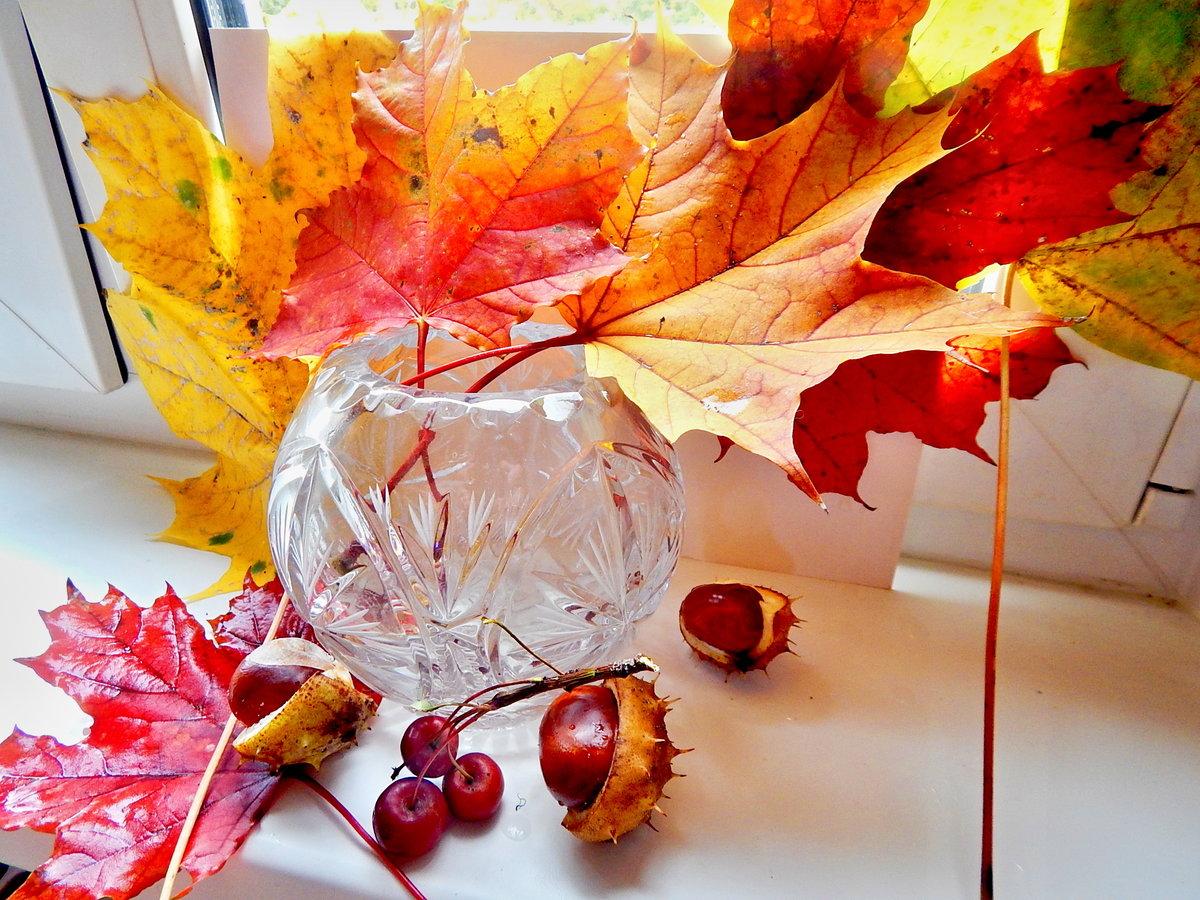 Открытки с листьями осень, картинки