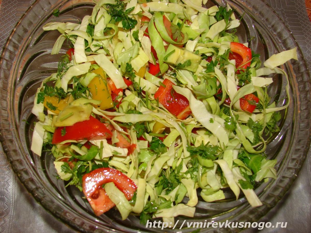 рецепт салатов овощных с фото