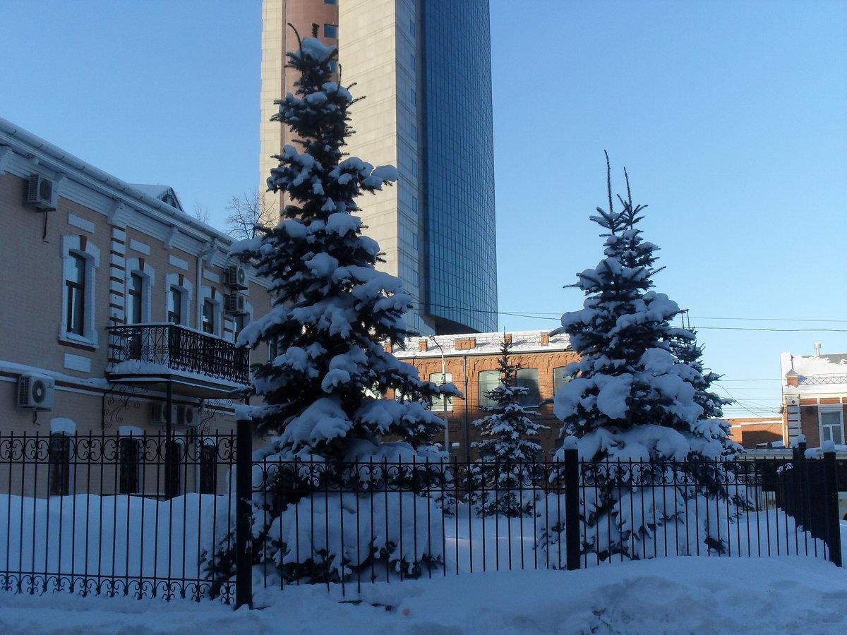 фото примечательных мест в уфе зимой талисман удачу