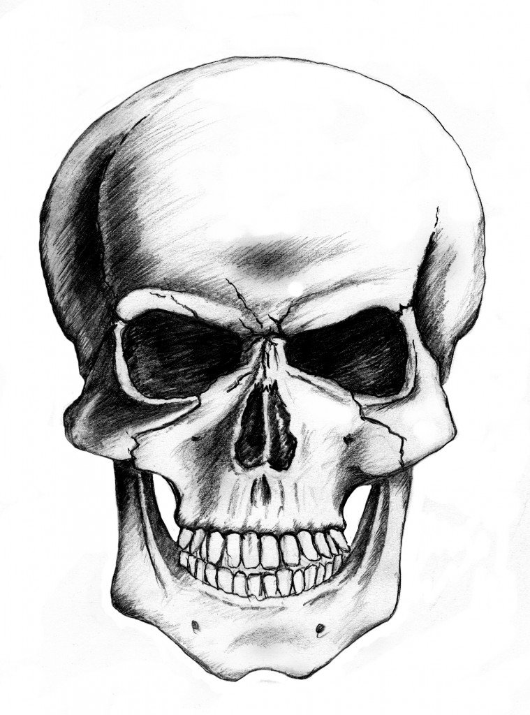 simple skull design