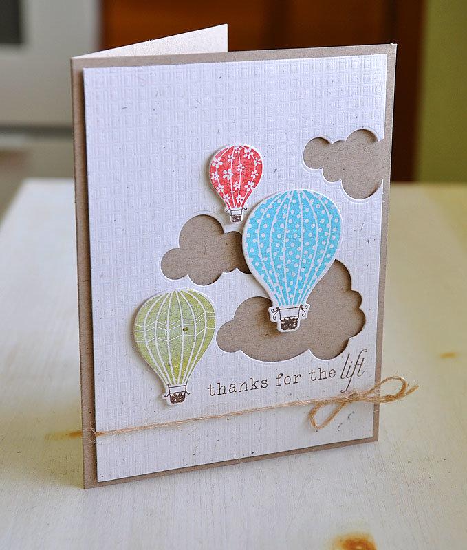 Простые открытки в стиле скрапбукинг
