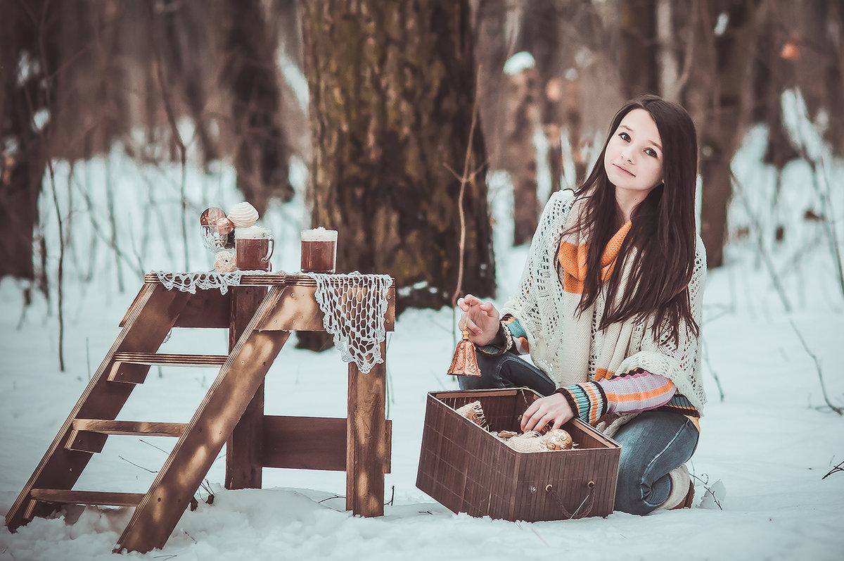 черную идеи для прогулочной фотосессии зимой на улице разная