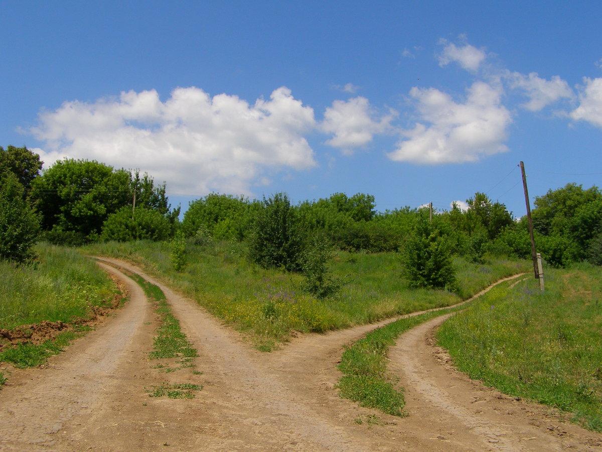 Картинка развилка двух дорог
