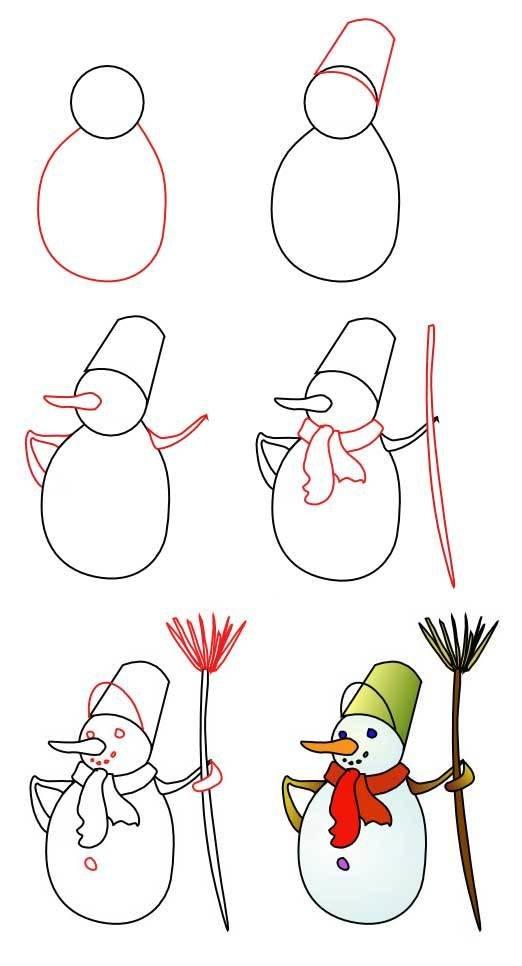 Нарисовать новогоднюю картинку карандашом, для учительнице