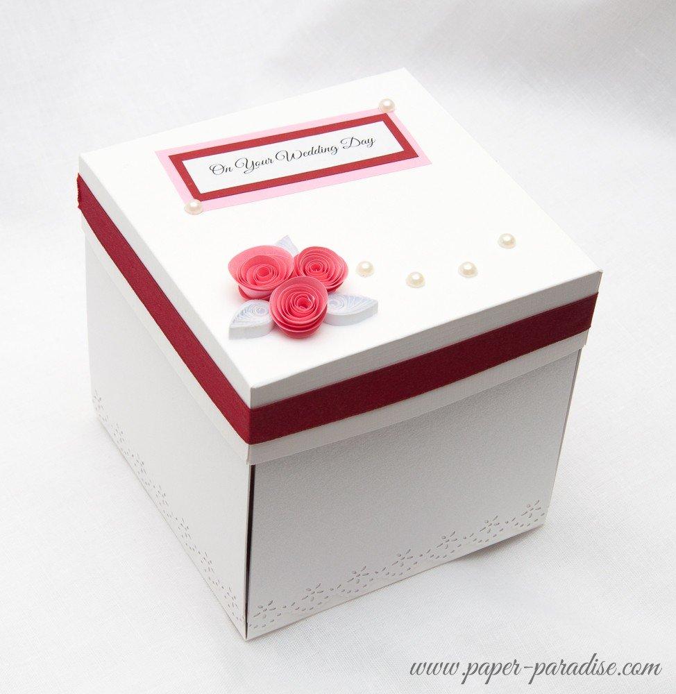 коробка поздравлений на свадьбу живописным водоемам