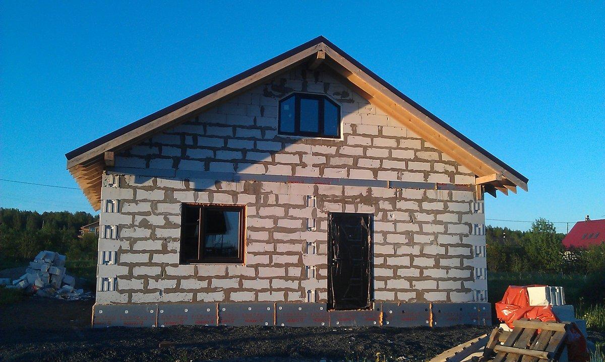 дом из газоблока своими руками цена