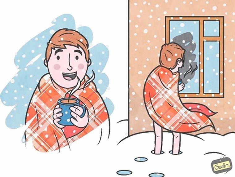 Смешные картинки на тему холодовая