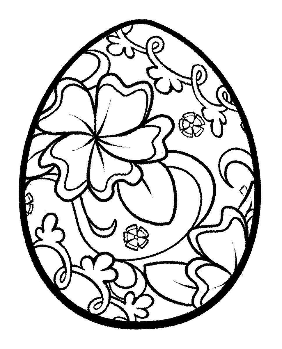 Видео, картинки пасхальных яиц раскраски