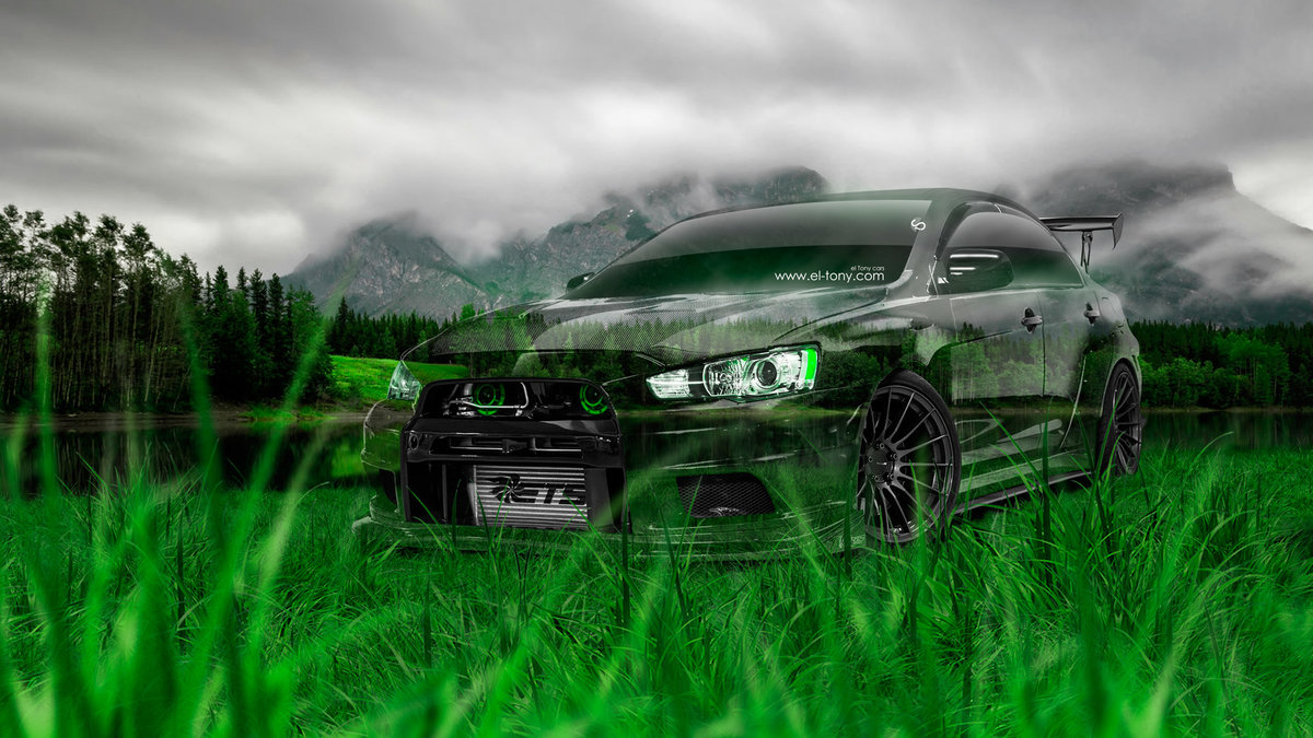 Mitsubishi Lancer Evolution X Tuning JDM Crystal Nature