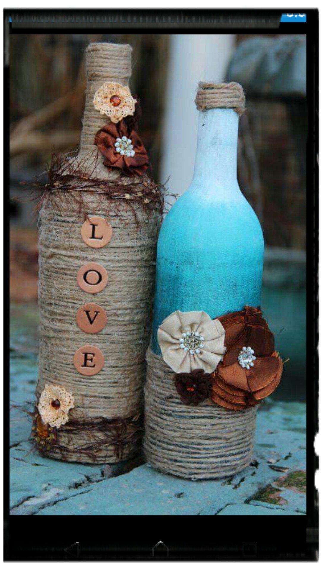 wine bottle crafts - 564×846