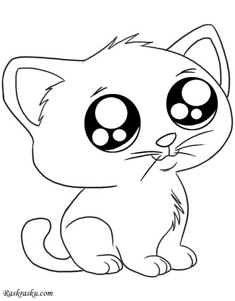 «Раскраска Анимэ кот Раскраски кошки для детей распечатать ...