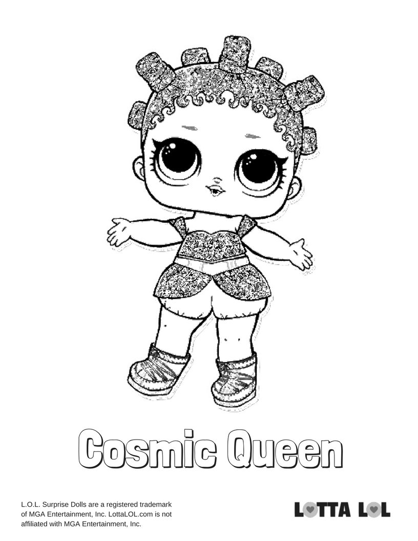 Queen Bee Lol Doll Coloring Pages Bing Images Card From User