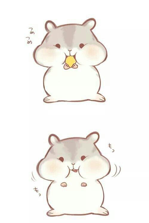 Милые картинки хомячки для срисовки