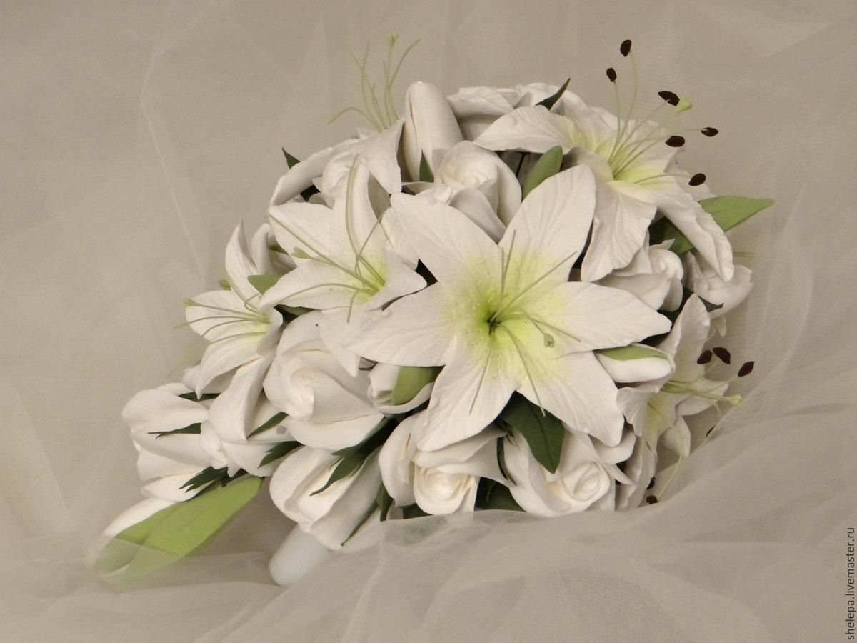 картинки шикарные букеты белых лилий готовые дома