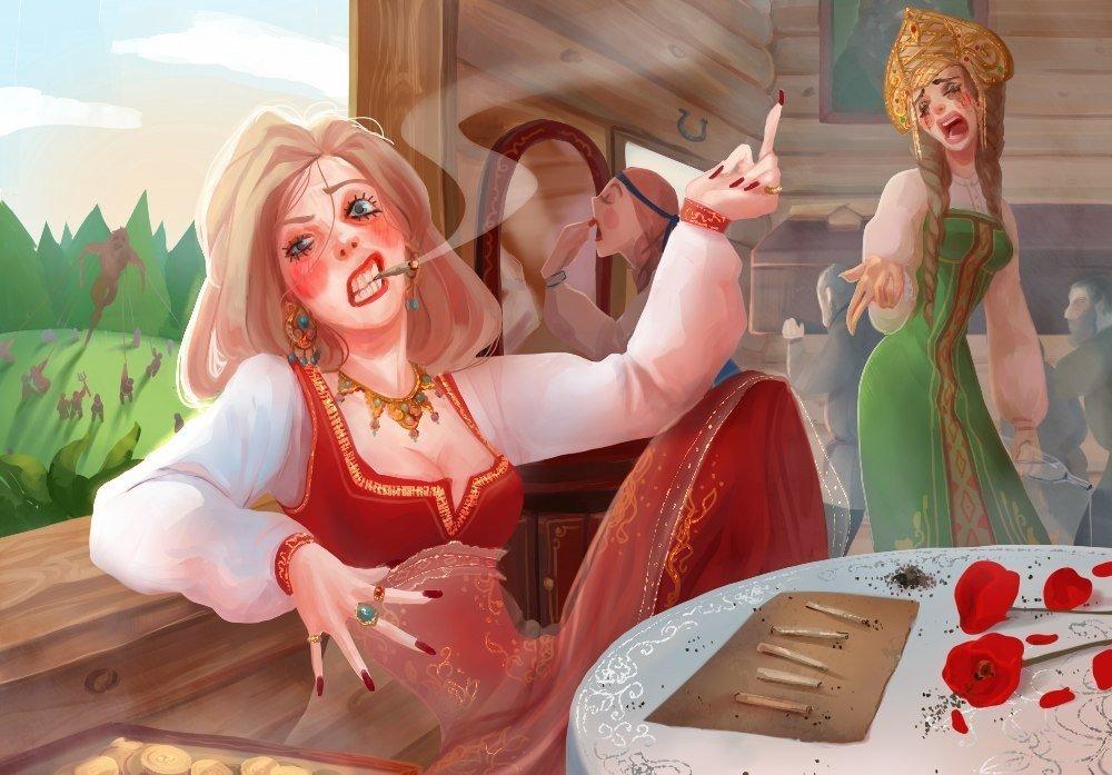 Прикольные иллюстрации к сказкам, картинки