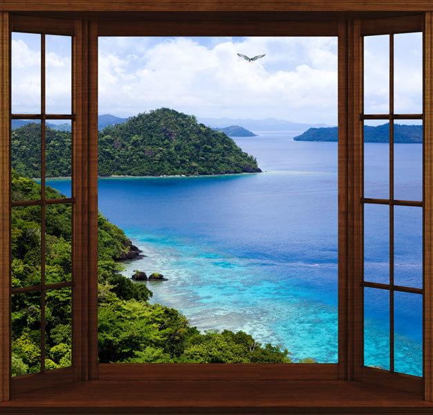 фотообои окно вид из окна театре