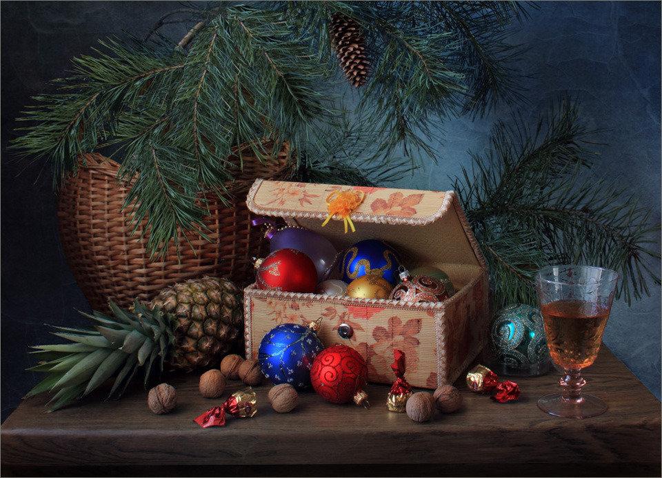 зимние фотонатюрморты с елью вауу