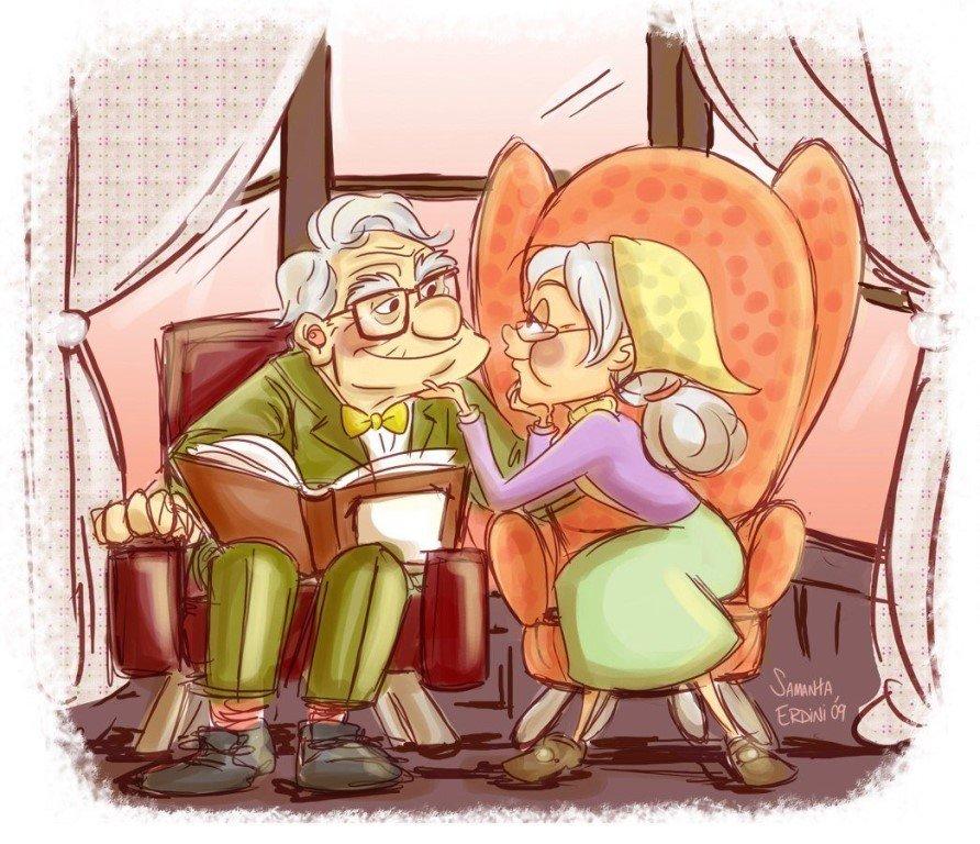 Картинка, прикольные картинки о любви в старости