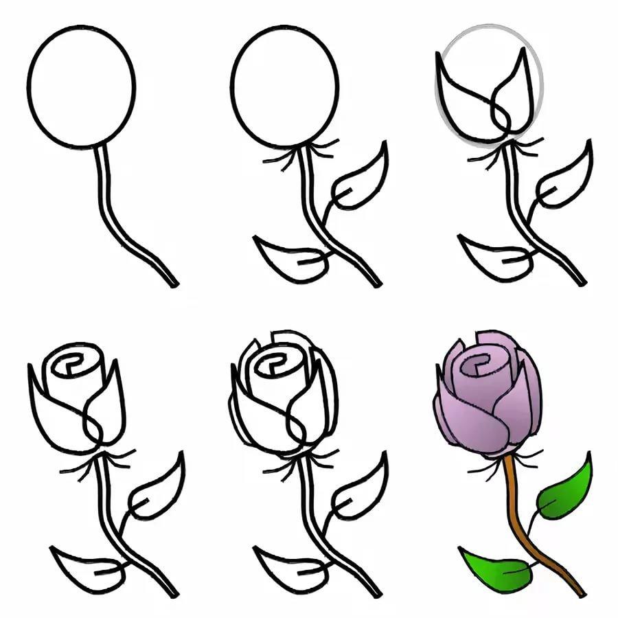 Картинки днем, картинка как нарисовать розу