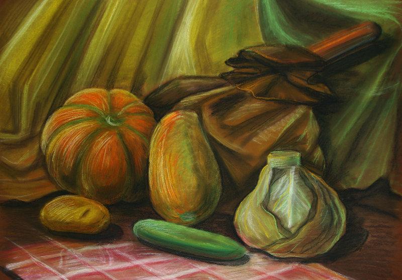 картинки натюрморта пастелью вид