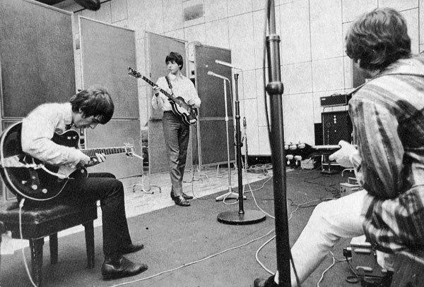 Harrison, Lennon & McCartney at Abbey Road Studio