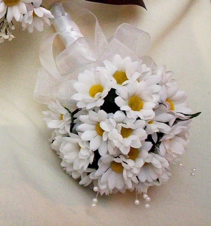 Эксклюзивный букет из ромашек свадебный