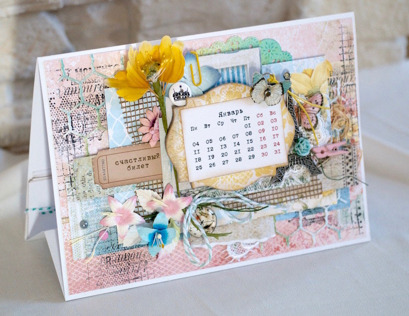 Календари в виде открыток