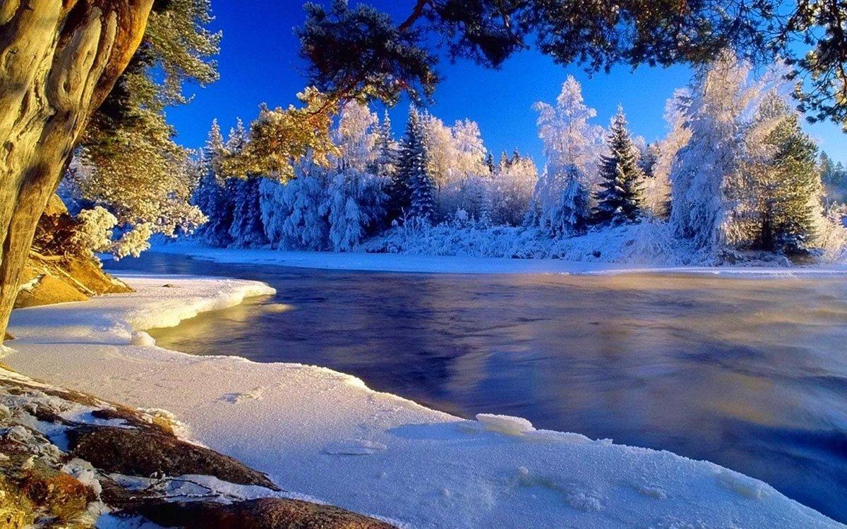 самые красивые зимние пейзажи мира фото желание пробраться