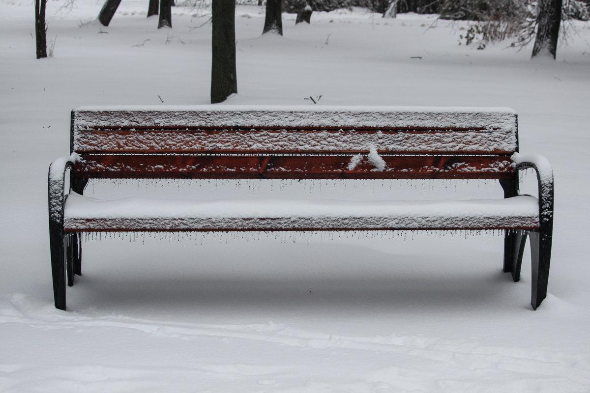 фото скамейка зимой самое главное, ама