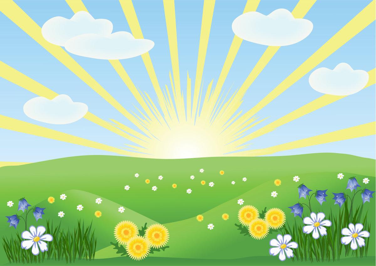 картинки с солнышком и цветами в цветном рисунке обеих