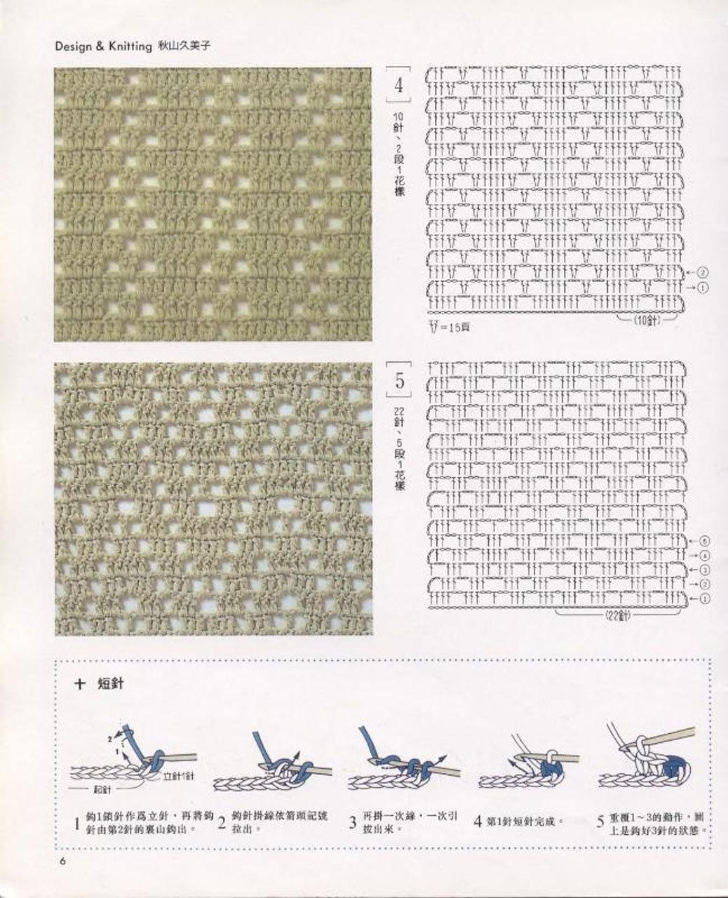 Простые узоры крючком для начинающих с картинками