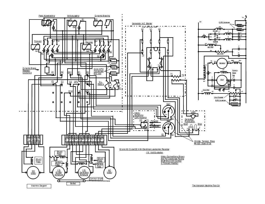 Lathe Wiring Diagram Diagrams Schematic Fregoth Monarch Schemes