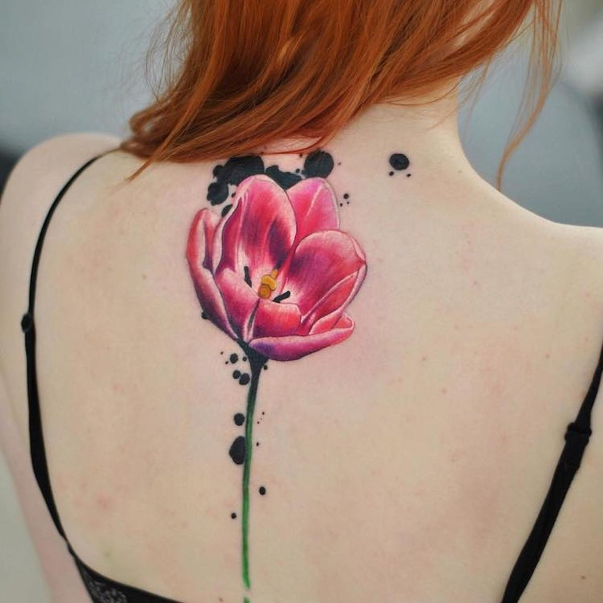 watercolor tattoo flower - 900×900