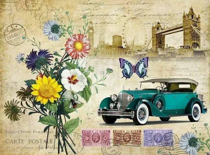 Ретро картинки, ретро почта открытки