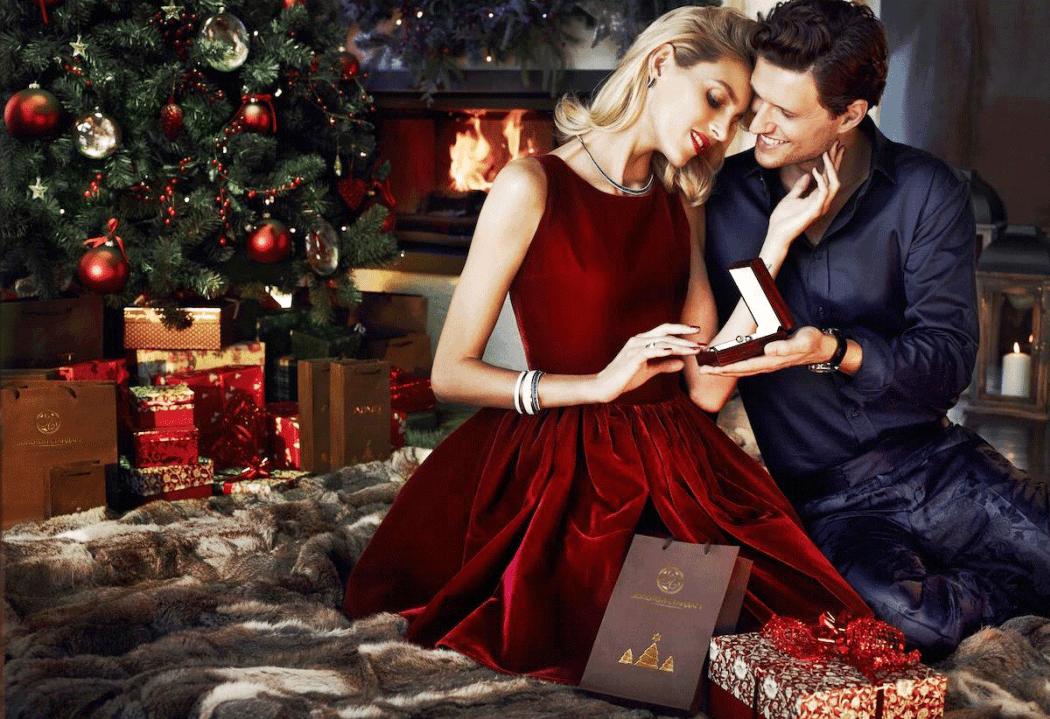 Новогодние картинки влюбленных пар, открытки