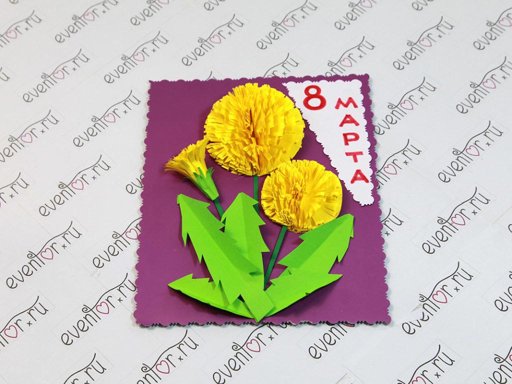 Поздравительная открытка с 8 марта пошагово, света спасибо