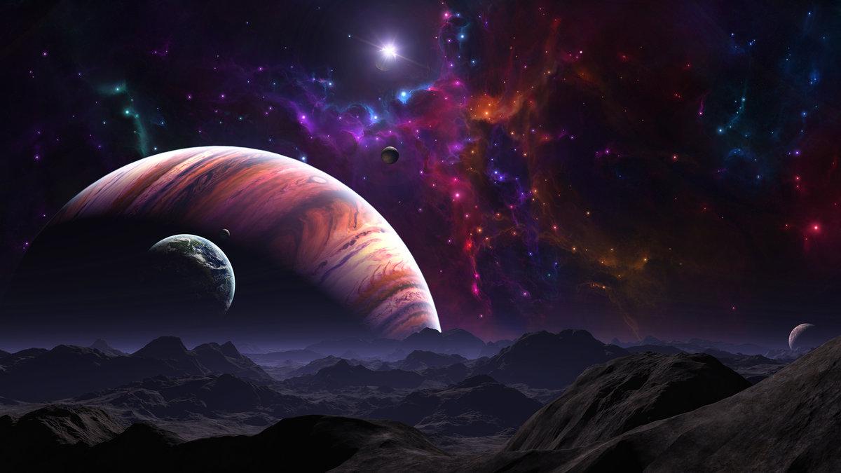 Картинки космос вселенная планеты фэнтези, девушке которую