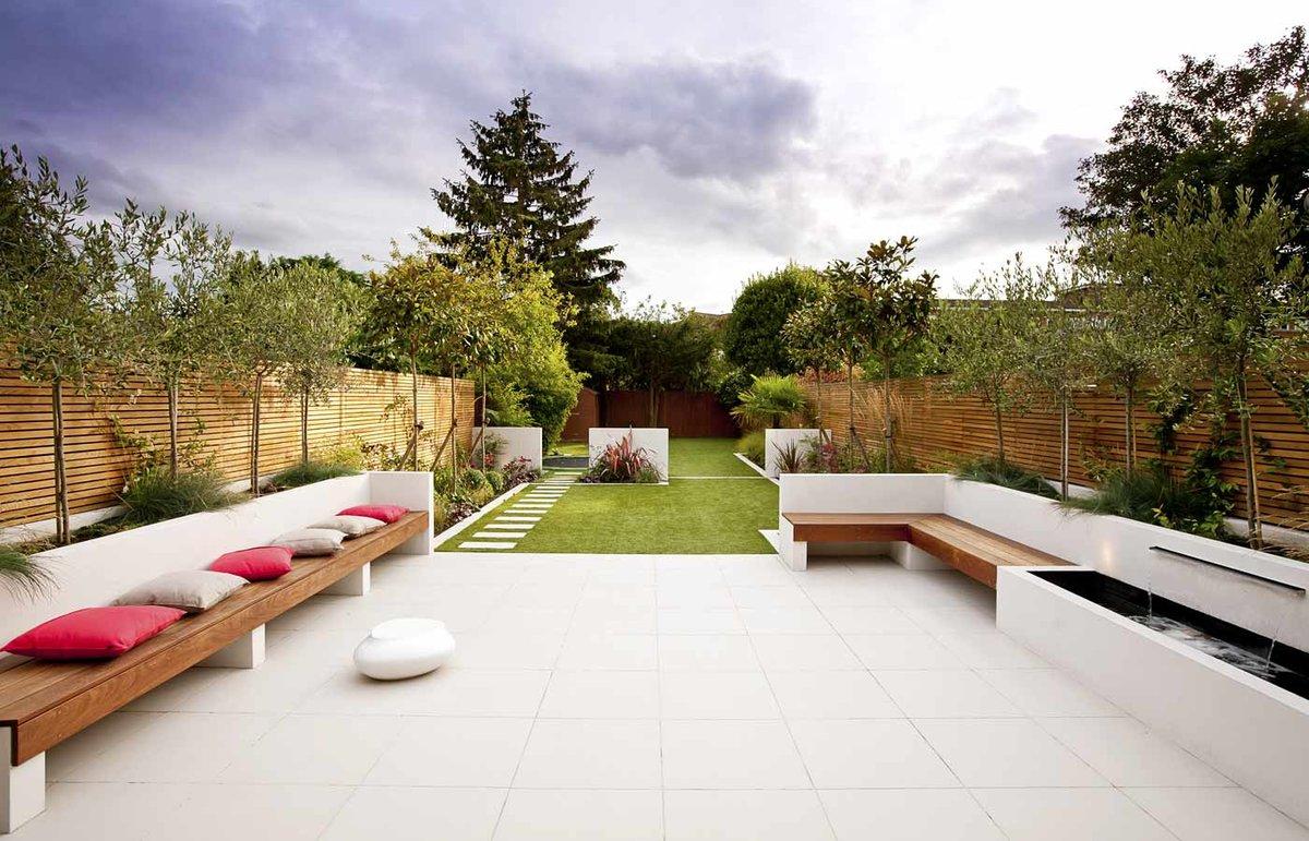 Как обустроить двор частного дома с фото