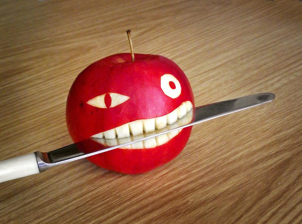 Добрым, яблочные картинки смешные
